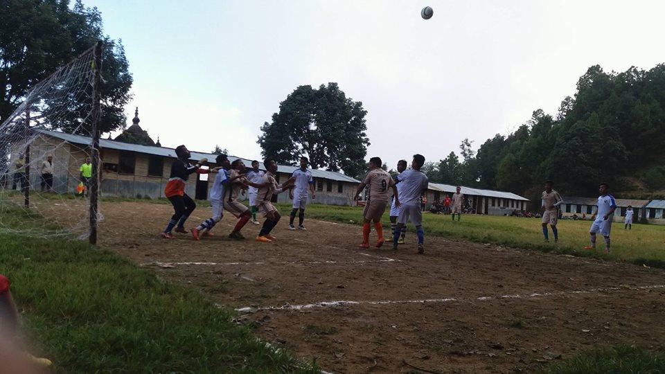 इन्द्रावतीमा दुई महिने फुटबल प्रशिक्षण हुँदै